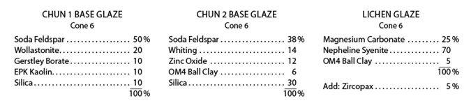 3 Cone 6 Glaze Recipes for the Lichen Look   Ceramic Arts Daily