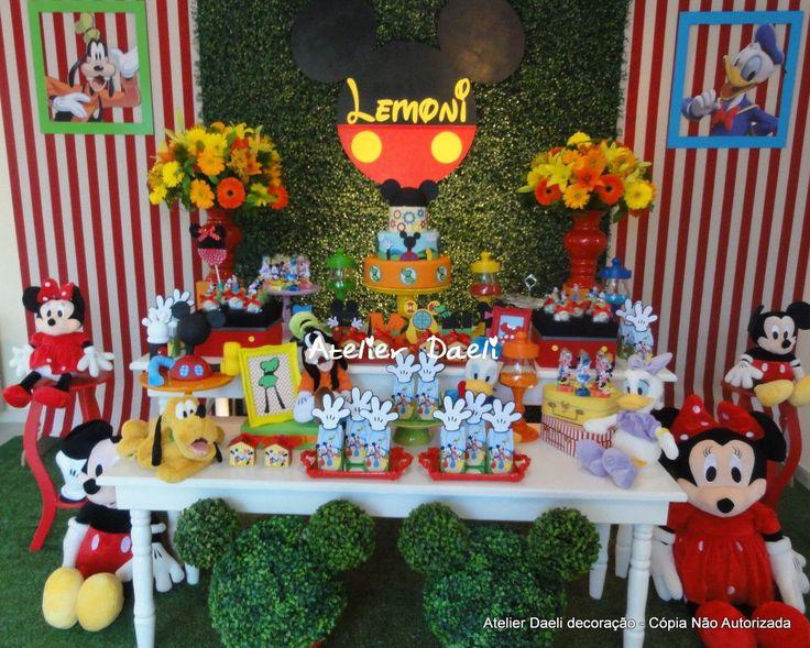 Decoração turma do Mickey   Atelier Daeli   Elo7