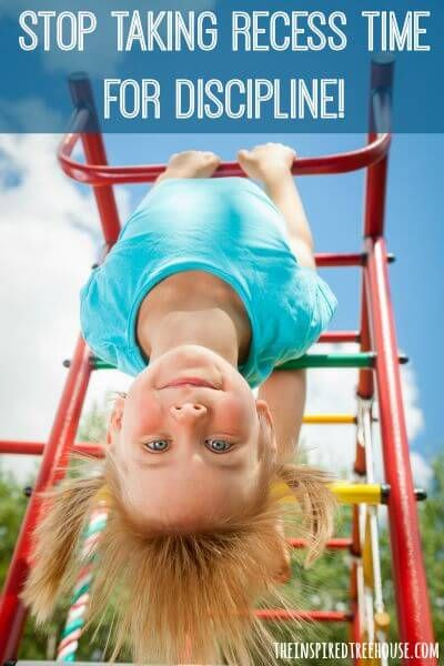 Alternative ideas for addressing discipline at school without taking away recess!