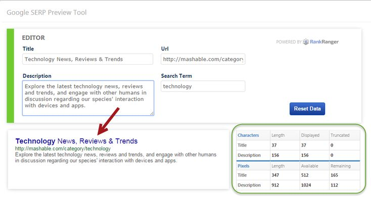 Use the new SERP Preview Tool Editor to Improve your on-page SEO