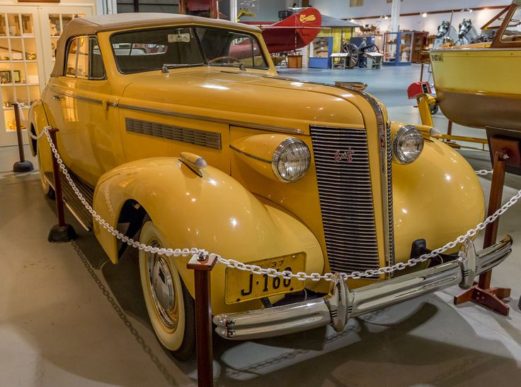 This is one of the many iconic cars at the Glenn Curtiss Museum in Hammondsport, N.Y. in the Fingerlakes.  This is a 1937 Buick convertible with a V-8 engine. I am not sure of the significance of the car or why it is in the museum. Perhaps it belonged to the Glenn Curtiss family.
