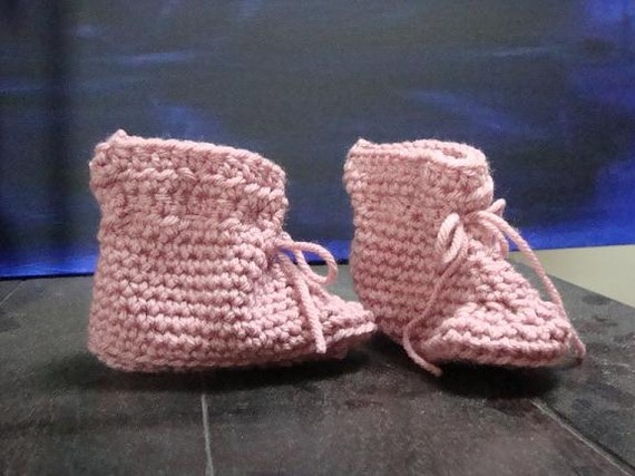 Pink Baby Booties $20.00