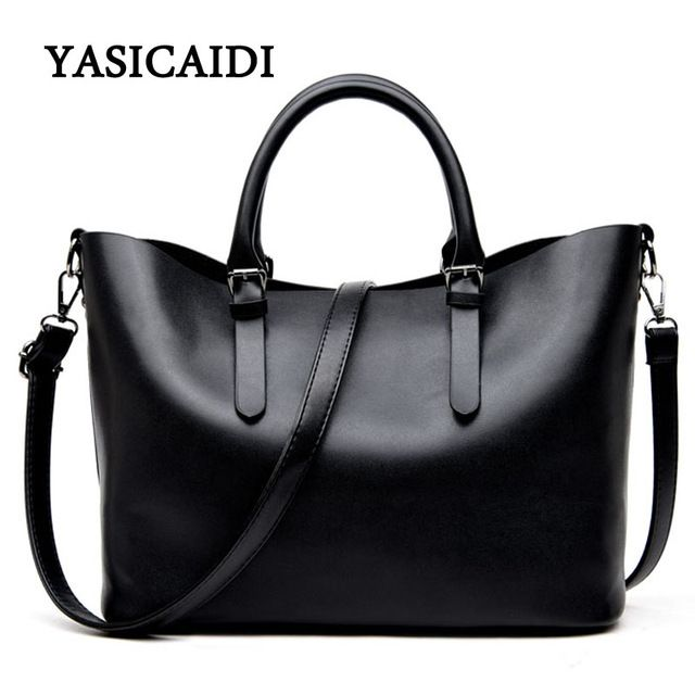 Lucky Deal $21.68, Buy Large Capacity Pu Leather Handbags Women Bags Pu Leather Shoulder Bag Casual Tote Bags Female Famous Brands Luxury Shoulder Bag