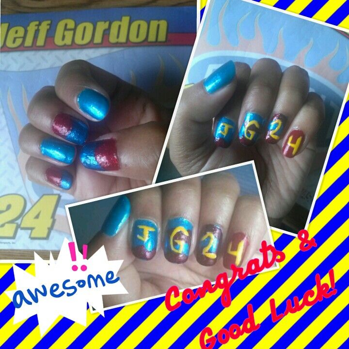 My Jeff Gordon nails! I am super excited he got into the #Chase ! Congrats! @Hendrick Motorsports