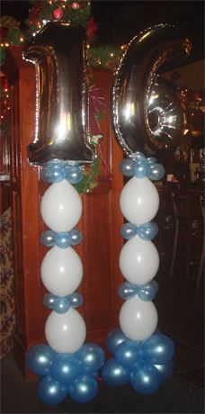 Sweet 16 Link-O-Loon Column - Bella Balloons Long Island