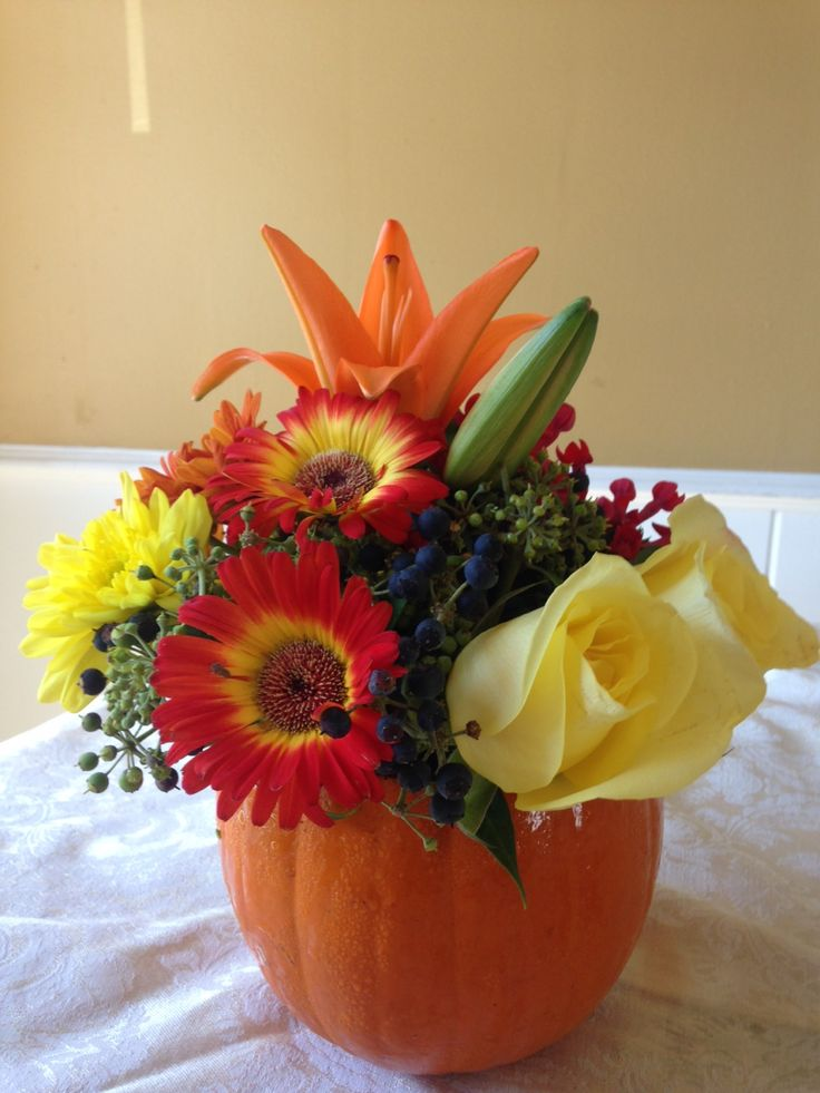 Happy Pumpkin arrangement from BloomNation local florist Susan Floral Design for $37.00: