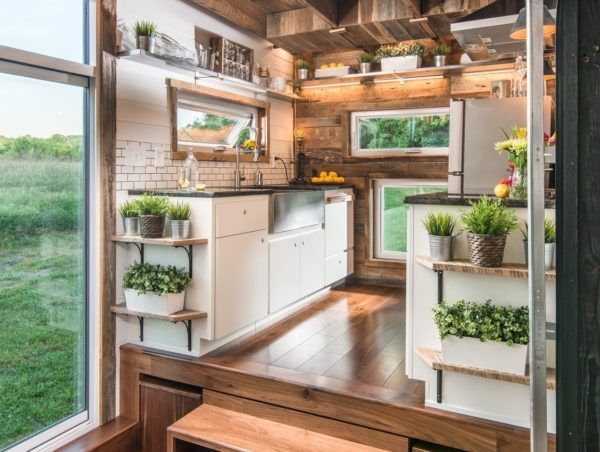 Alpha Tiny House 008 LIKE THE LOOK OF THIS KITCHEN. IS IT WIDER THAN 8.  Tiny House KitchensSmall KitchensMobile ...