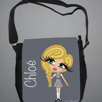 Back To School Chloe Personalised Messenger Bag (Medium)