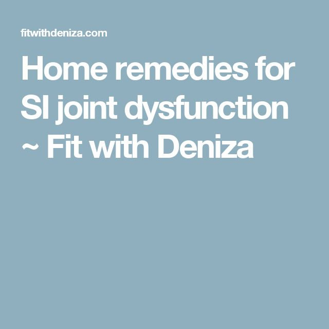 Home remedies for SI joint dysfunction ~ Fit with Deniza