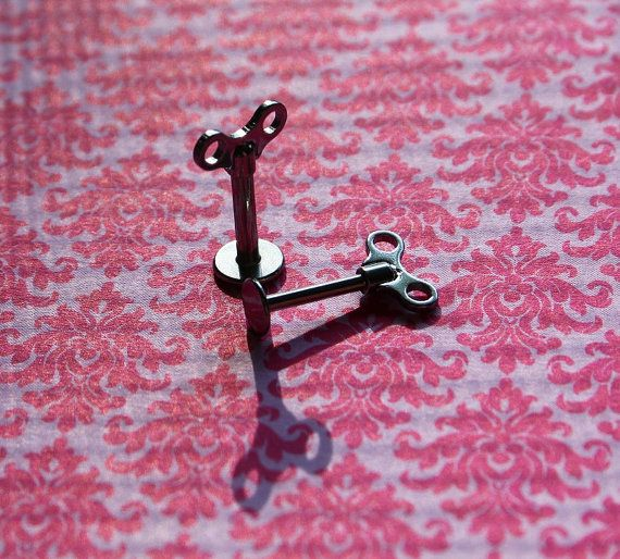 Surgical Steel Wind Up Toy Turning Labret or by LibertyLaneStudio, $16.99 @LibertyLaneUSA