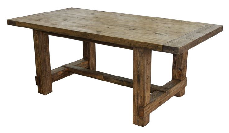 Country reclaimed solid wood farmhouse dining table by cdi for Solid wood farmhouse table