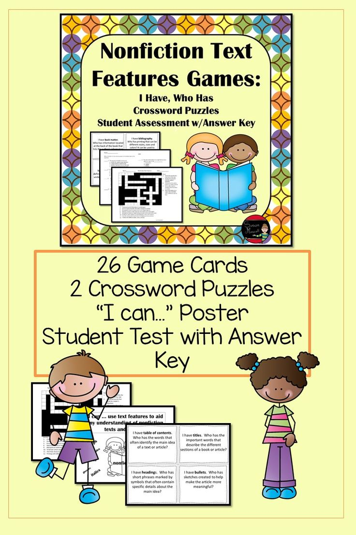 Nonfiction Text Features Games (ID: 15478) - Review Game Zone