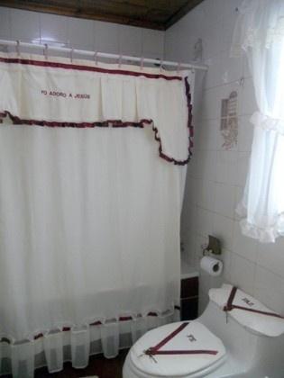 Juego de baño en tela.