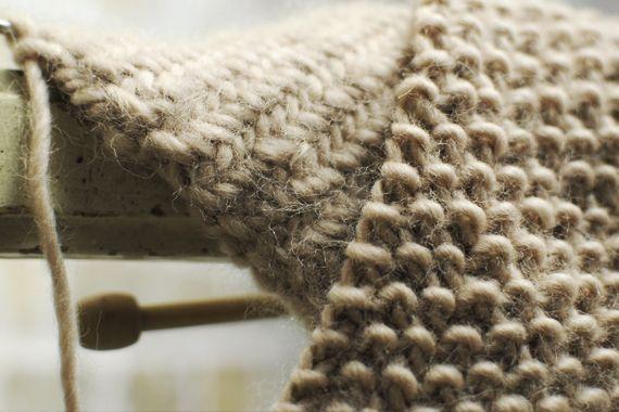 heringbone and pearl knitting