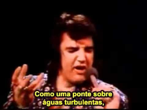 Elvis Presley  chora cantado essa musica  Bridge Over Troubled Water Leg...