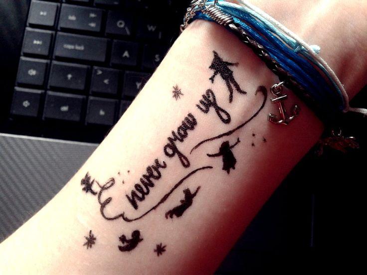 Peter Pan Tattoo Never Grow Up Infinity