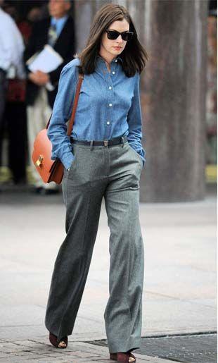 Anne Hathaway como Jules em Sr. Estagiário (The intern), figurino, looks