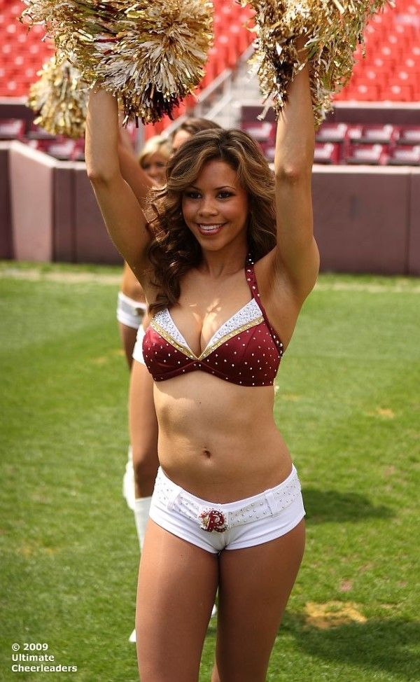 Exaggerate. Redskins cheerleaders big butt mistaken