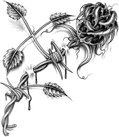 Barbed Rose Tattoo