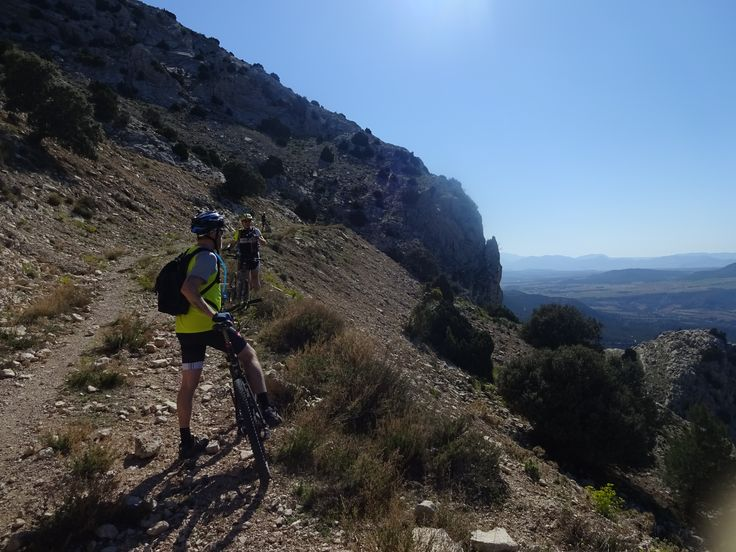 Top of Espuna mountain, well nearly there and very tired. Climbing for almost 2 solid hours in 24 degrees. I am getting to enjoy MTB very much now, you get to see places you cant on a road #bike.
