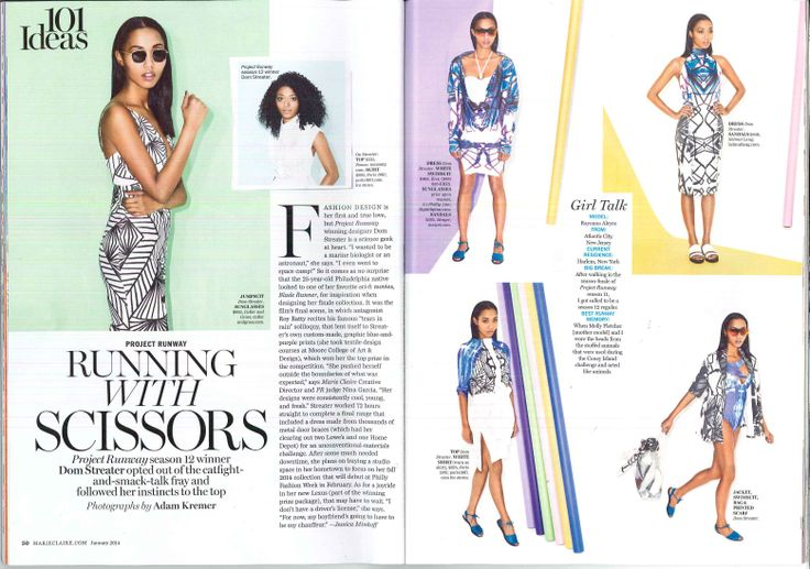 Dom Streater's fashion spread from Marie Claire magazine.