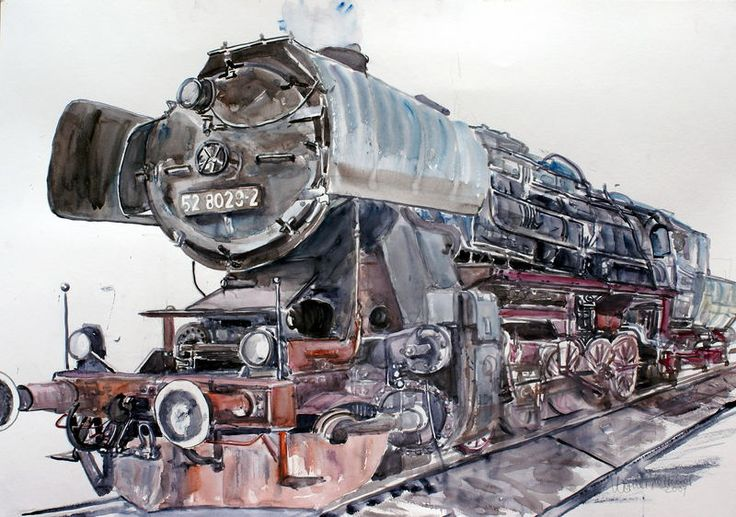 Dampflok 528029-2 von Werner Kerscher