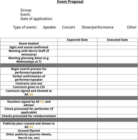 Po et n pad na t ma Event Proposal na Pinterestu 17 nejlep ch – Event Planning Proposal