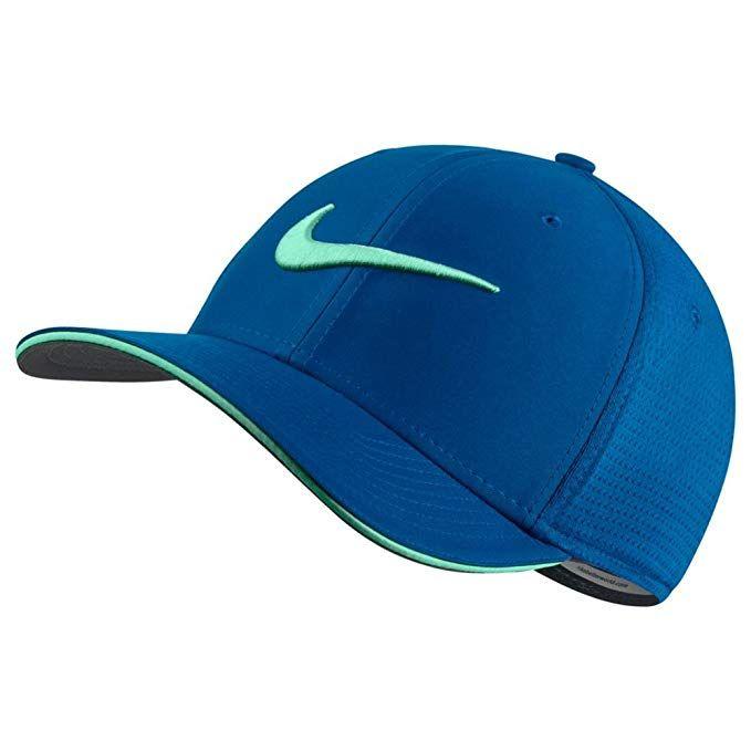 b96c05140e1 Nike Classic 99 Mesh Golf Cap 2017 Blue Nebula Green Glow Green Glow  Medium Large Review