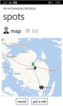 #Hitchhiking Spots app
