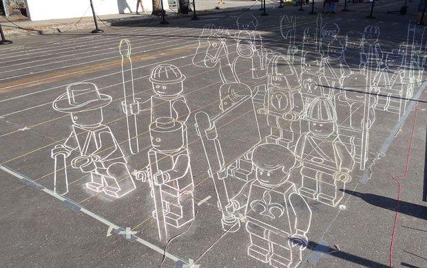 3D Chalk, Terracotta Lego Army