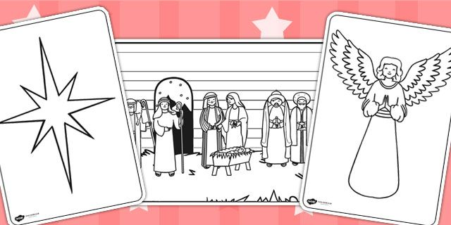 Twinkl Resources gt gt The Nativity Colouring Pages
