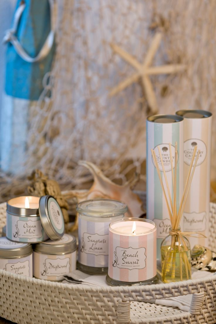 The Seaside collection by The Country Candle Company. www.thecountrycandlecompany.com