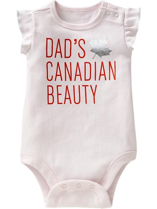 """""""Canadian Beauty"""" Bodysuits for Baby Product Image"""