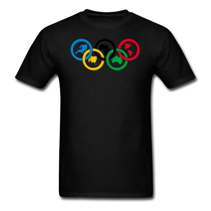 MOYI Men's World's Famous Olympic Games Rings Shirt Black Xxxx-large. 100% Cotton. Simple And Easy, High Quality. Well Image And Exllent Printed Technology. A Series2016 RIo Olympic Games Logo Products. Great Shirt And High Print Quality.
