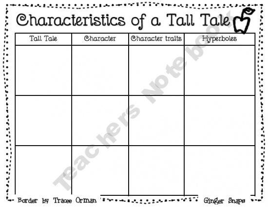 Tall Tale Chart