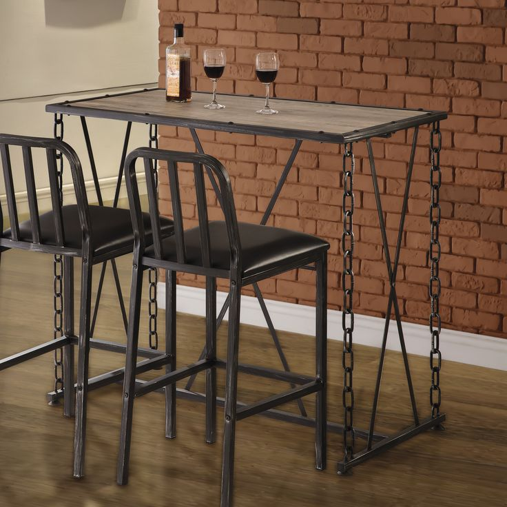 Don't you want this industrial style bar table in your home? #Coaster #CoasterCompany #CoasterFurniture #bartable