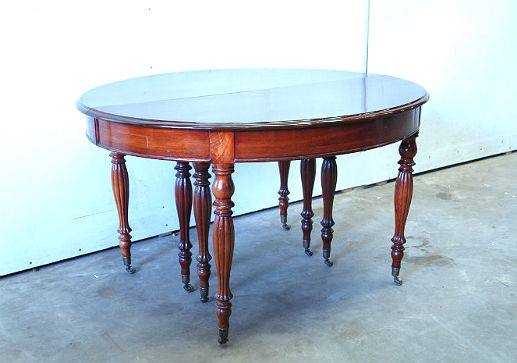 Старинная антикварная мебель. Стол раздвижной. Красное дерево. Англия, 1880-е гг.