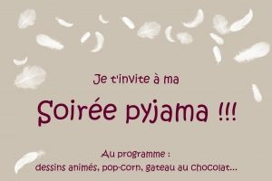 invitation ⇒ Modèle invitation ⇒Carte d'invitation soirée pyjama  Continue Reading →
