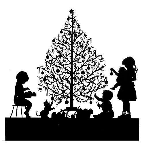 вытынанка рождество новогодняя елка дети