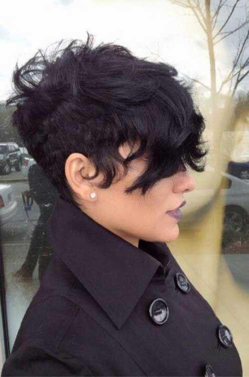Undercut wavy hairstyle
