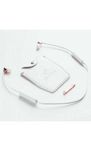 Sudio Sweden wireless headphones $110 and perfect for listening to podcast while cleaning or jogging at the gym - just purchased the rose gold white pair.
