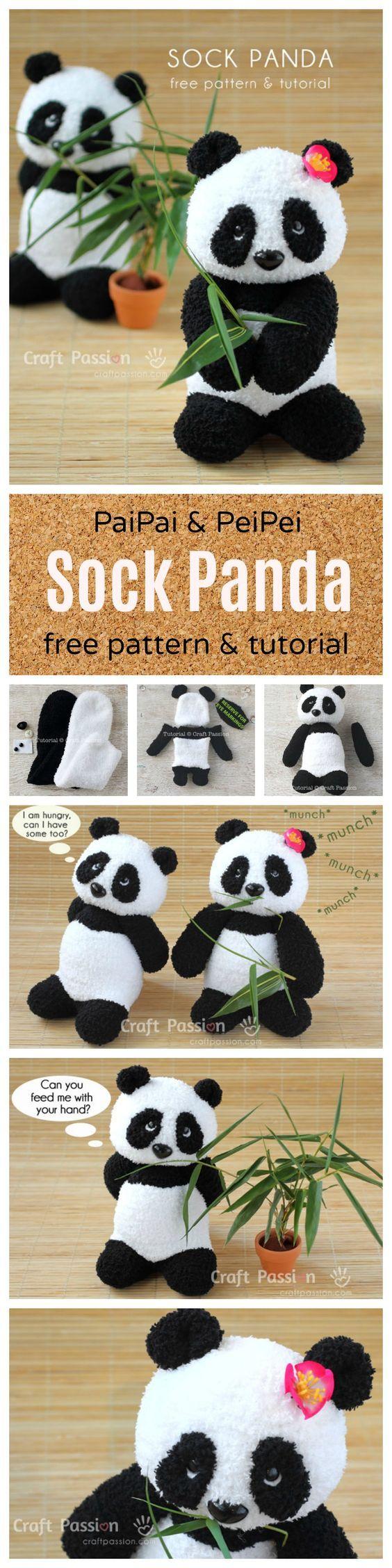 Free Sewing Pattern: PaiPai & PeiPei Sock Panda