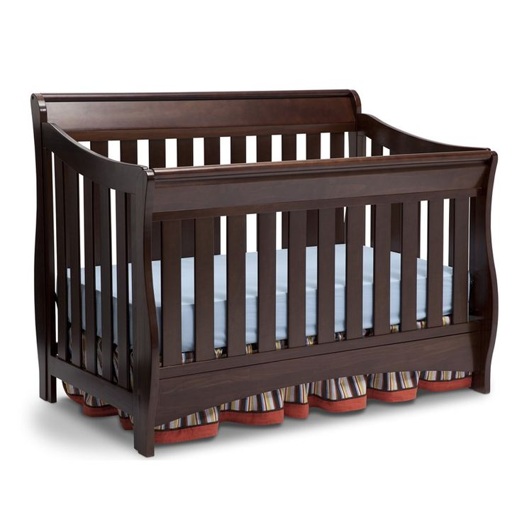 Featuring A Sleigh Silhouette The Delta Children Bentley S Series Convertible Crib Will Bring Style And Versatility To Your Child Room