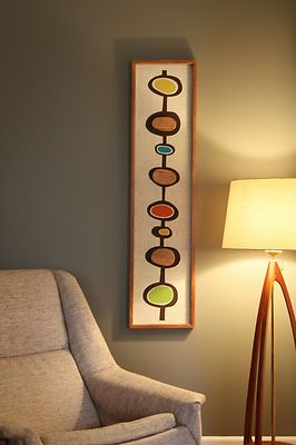 Mid Century Danish Modern Witco Styled Wall Art   eBay