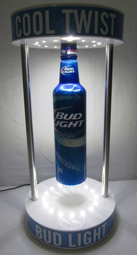 Bud Light Beer Led Spinning Floating Levitating Bottle