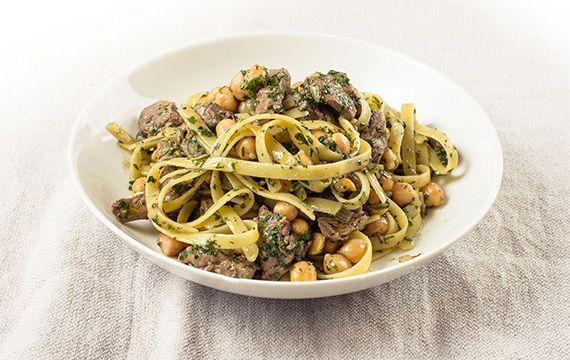 Fettuccine with Lamb and Chickpeas - San Remo
