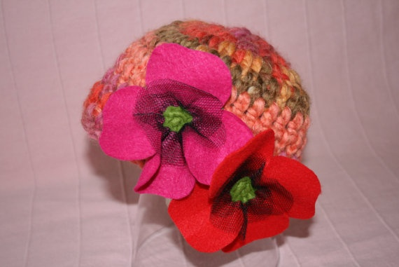 crochet beanie for girl 3-5y by MadameBonneterie on Etsy, €15.00