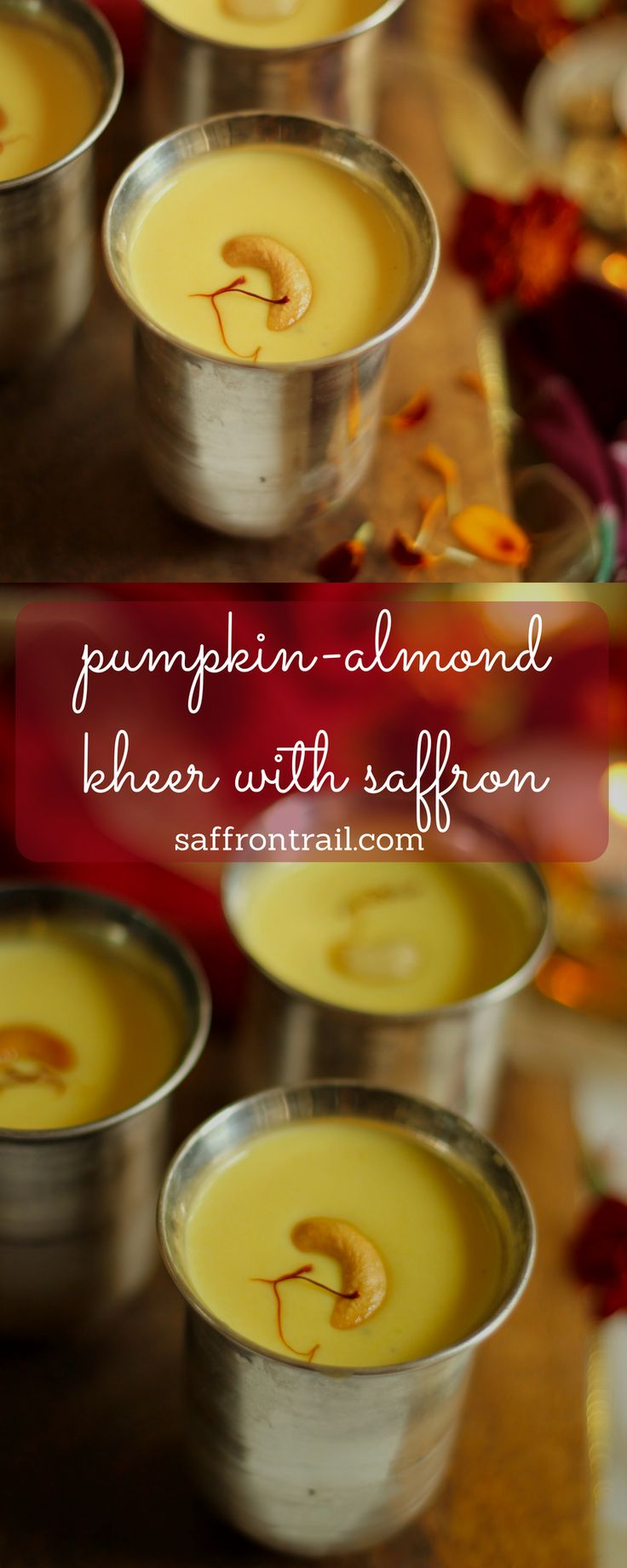 This Kesar Badam Kheer with pumpkin is my Mum's super hit recipe. It is creamy and thick, with the flavour of saffron lingering on your tastebuds making you crave for more!