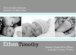 Photo sibling announcement