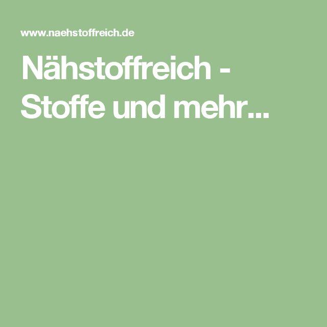 Nähstoffreich - Stoffe und mehr...